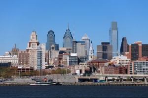 Philadelphia Cityscape, Medium View